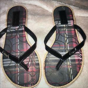 Coach thong flip-flops
